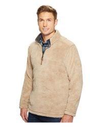 True Grit Natural Pebble Pile 1/4 Zip Pullover for men