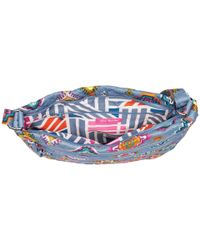 Vera Bradley Blue Iconic Triple Zip Hipster