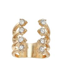 Guess - Metallic Stone Claw Ring - Lyst