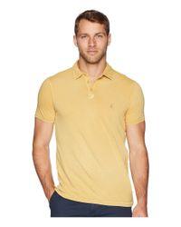 John Varvatos - Yellow Pigment Rub Peace Polo K1381u2b (caramel) Men's Clothing for Men - Lyst