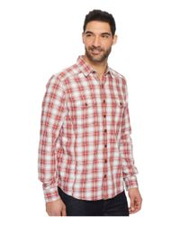 Ecoths Red Dax Long Sleeve Shirt for men