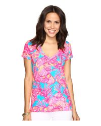 Lilly Pulitzer Blue Michele Top