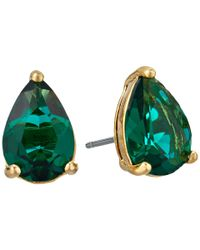 Kate Spade - Green Shine On Teardrop Stud Earrings - Lyst