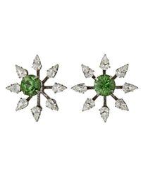 DANNIJO | Green Constantina Earrings | Lyst