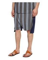 Vivienne Westwood - Gray Printed Stripe Jersey Twist Seam Shorts for Men - Lyst