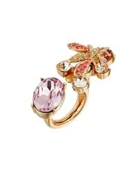 Oscar de la Renta - Brown Crystal Bee Ring - Lyst