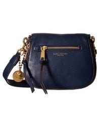 Marc Jacobs Blue Recruit Small Saddle Bag