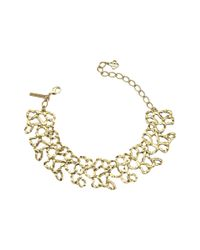 Oscar de la Renta | Black Swarovski Embellished Necklace | Lyst