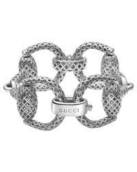 Gucci - Metallic Horsebit Light Bracelet - Lyst