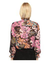 Just Cavalli - Multicolor Flower Power Print Long Sleeve Shirt - Lyst