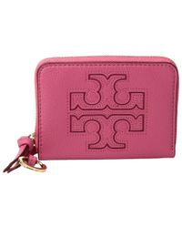 Tory Burch - Pink Harper Zip Coin Case - Lyst