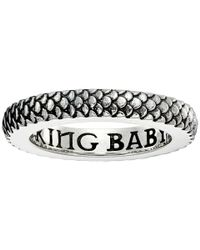 King Baby Studio   Metallic Dragon Scale Infinity Ring   Lyst