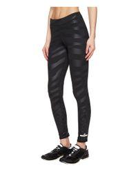 Adidas By Stella McCartney Black Run Zebra Long Tights S96900