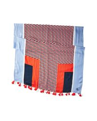 Tory Burch - Multicolor Windsurf Color Block Logo Oblong Scarf - Lyst
