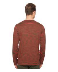 Missoni Red Fiammato Pima Cotton Long Sleeve Sweater for men