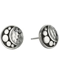 John Hardy - Metallic Dot Moon Phase Hammered Stud Earrings - Lyst