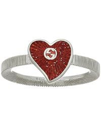 Gucci - Multicolor Enameled Heart Ring - Lyst