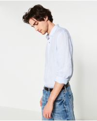 Zara | Black Plain Shirt for Men | Lyst