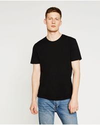 Zara | Black Relaxed Fit T-shirt for Men | Lyst