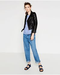 Zara | Black Faux Leather Jacket | Lyst