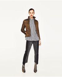 Zara   Multicolor Ultralight Quilted Jacket   Lyst