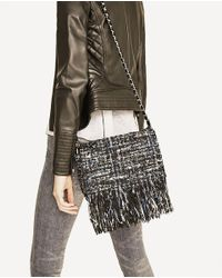 Zara | Multicolor Fringed Fabric Crossbody Bag | Lyst