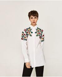 Zara | Multicolor Oversized Floral Shirt | Lyst