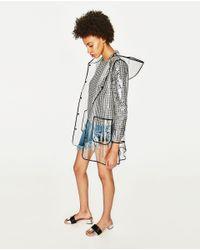 Zara   Black Block Heel Sandal   Lyst