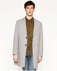 Zara | Gray Wool Coat for Men | Lyst