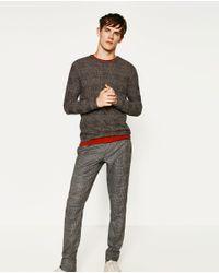 Zara | Gray Textured Sweatshirt for Men | Lyst