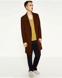 Zara | Yellow Deluxe T-shirt for Men | Lyst