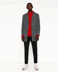 Zara | Gray Coat for Men | Lyst
