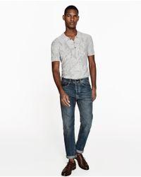 Zara | Gray Camouflage Polo Shirt for Men | Lyst
