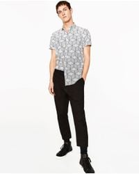 Zara | Multicolor Geometric Print Shirt for Men | Lyst