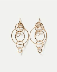 Zara | Metallic Multi-hoop Earrings | Lyst