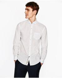 Zara | White Printed Shirt for Men | Lyst