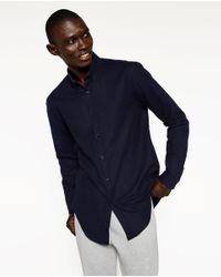 Zara | Blue Flannel Shirt for Men | Lyst