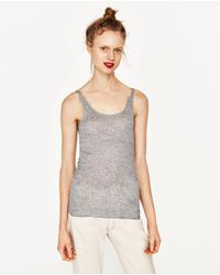 Zara | Gray Tank Top | Lyst