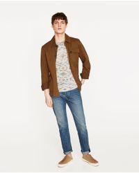Zara | Multicolor Pattern T-shirt for Men | Lyst
