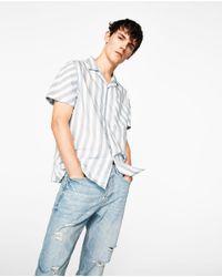 Zara | Multicolor Striped Shirt for Men | Lyst