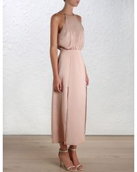Zimmermann - Pink Sueded Picnic Dress - Lyst