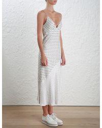 Zimmermann - Multicolor Stranded Tuck Slip Dress - Lyst