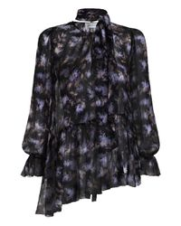 Zimmermann | Black Stranded Tier Blouse | Lyst