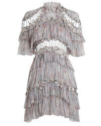 Zimmermann | Multicolor Stranded Tier Mini Dress | Lyst