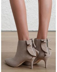 Zimmermann - Gray Frill Ankle Boot - Lyst