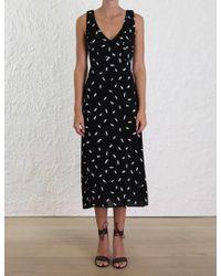 Zimmermann - Black Bow Picnic Dress - Lyst