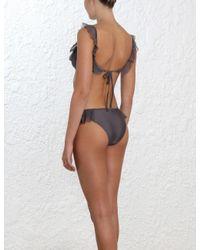 Zimmermann Multicolor Laelia Shoulder Frill Bikini