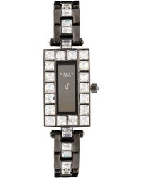 Lipsy - Stone Set Bracelet Watch With Gunmetal Dial - Lyst