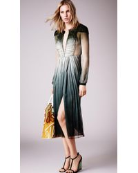 Burberry Dégradé Silk Dress - Lyst