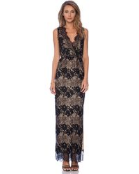 Twelfth Street Cynthia Vincent Sleeveless Lace Maxi Dress - Lyst